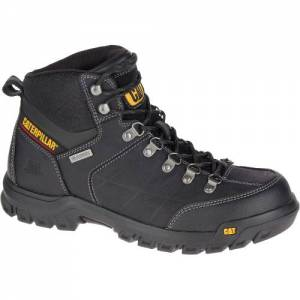 CAT Threshold Waterproof Work Boot - Men - Black