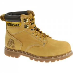 CAT Second Shift Steel Toe Work Boot - Men - Honey Nubuck