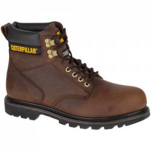 CAT Second Shift Steel Toe Work Boot - Men - Dark Brown