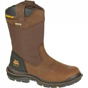 CAT Flexion Grist Waterproof Steel Toe Work Boot - Men - Dark Brown