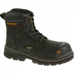 "CAT Rasp 6"" Waterproof Metatarsal Guard Composite Toe Work Boot - Men - Black"