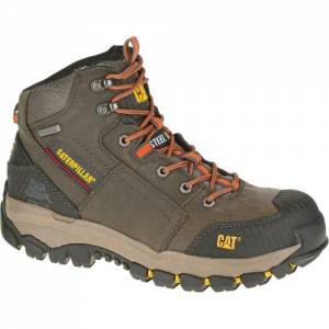CAT Navigator Mid Waterproof Steel Toe Work Boot - Men - Dark Gull Grey