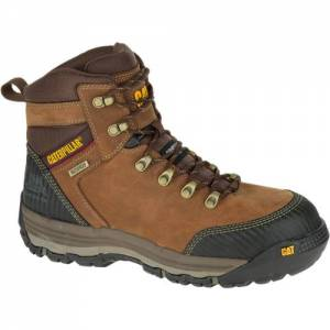 "CAT Munising 6"" Waterproof Composite Toe Work Boot - Men - Brown"