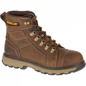 "CAT Granger 6"" Steel Toe Work Boot - Men - Dark Beige"