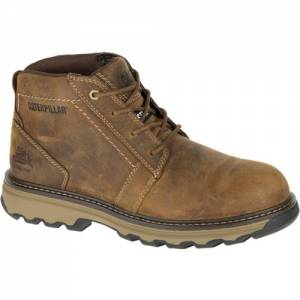 CAT Parker Steel Toe Work Boot - Men - Dark Beige