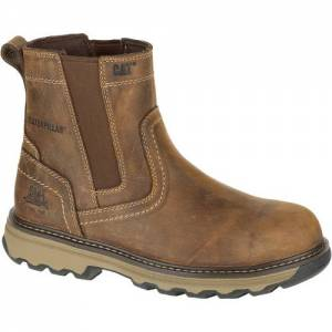 CAT Pelton Work Boot - Men - Dark Beige