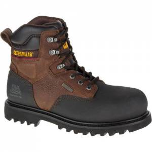 "CAT Creston 6"" Waterproof TX Composite Toe Work Boot - Men - Oak"