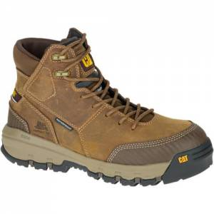 CAT Device Waterproof Composite Toe Work Boot - Men - Dark Beige