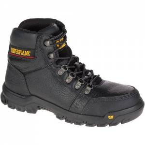 CAT Outline Steel Toe Work Boot - Men - Black