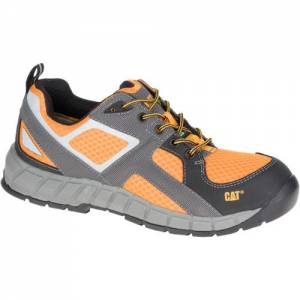 CAT Gain Steel Toe Work Shoe - Men - Black / Gunmetal / Marigold