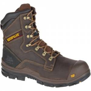 CAT Scaffold Waterproof Composite Toe Work Boot - Men - Dark Brown