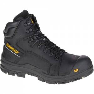 CAT Struts Waterproof Composite Toe Work Boot - Men - Black