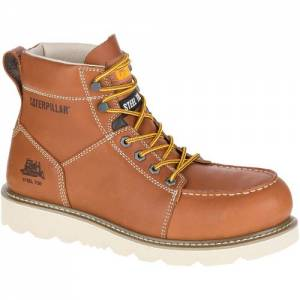 CAT Tradesman Steel Toe Work Boot - Men - Brown