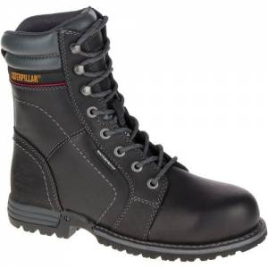 CAT Echo Waterproof Steel Toe Work Boot - Women - Black
