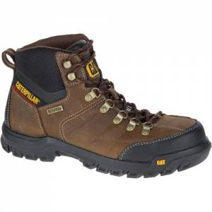 CAT Threshold Waterproof Steel Toe Work Boot - Men - Real Brown