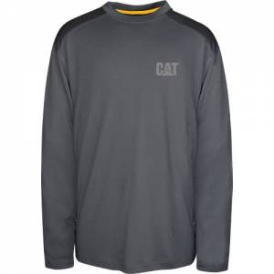 CAT CONQUEST PERFORMANCE LONG SLEEVE TEE - Men - Graphite / Black