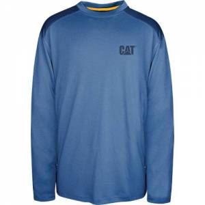CAT CONQUEST PERFORMANCE LONG SLEEVE TEE - Men - Eclipse Blue
