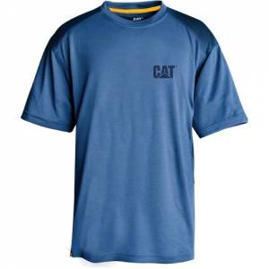 CAT CONQUEST PERFORMANCE TEE - Men - Eclipse Blue