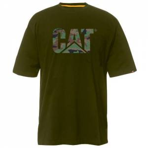 CAT Custom Logo Tee - Men - Woodland Camo / Black