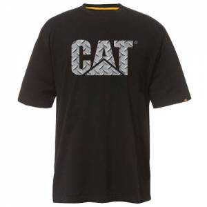 CAT Custom Logo Tee - Men - Diamond Plate / Black