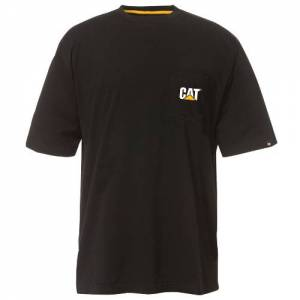 CAT TRADEMARK POCKET TEE - Men - Black