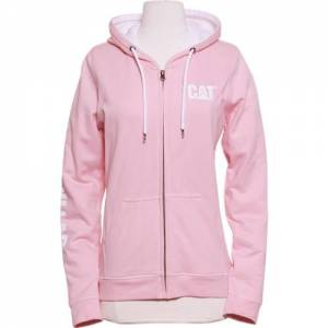 CAT TRADEMARK BANNER FULL ZIP SWEATSHIRT - Women - Stawberry Cream