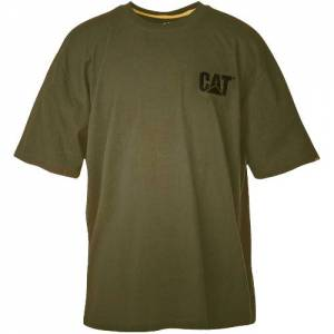 CAT Trademark Short Sleeve Tee - Men - Army Moss