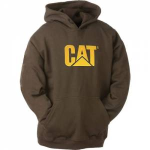 CAT Trademark Hooded Sweatshirt - Men - Dark Earth