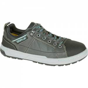 CAT Brode Steel Toe Work Shoe - Women - Dark Grey / Mint