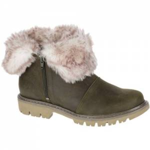CAT Flurry Fur Waterproof Boot - Women - Dark Olive