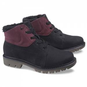 CAT Fret Fur Waterproof Boot - Women - Black / Wine