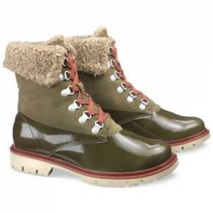 CAT Hub Hiker Fur Boot - Women - Dark Olive