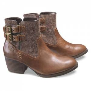 CAT Willa Tweed Boot - Women - Brown Sugar