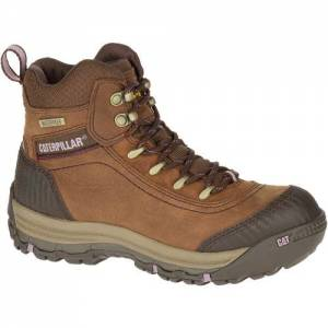 CAT Ally Waterproof Work Boot - Women - Brown