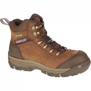 CAT Ally Waterproof Composite Toe Work Boot - Women - Brown