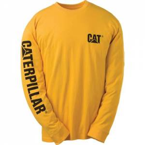 CAT Trademark Banner Long Sleeve Tee (Big & Tall) - Men - Yellow