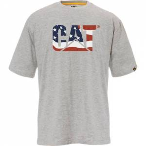 CAT Custom Logo Tee - Men - USA / Grey