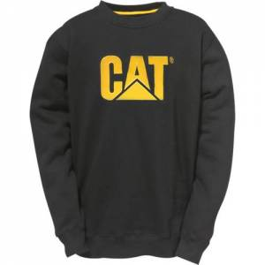 CAT Logo Crewneck Sweatshirt - Men - Black