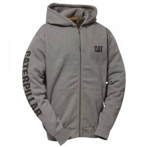 CAT Full Zip Hooded Sweatshirt - Men - Dark Heather Grey