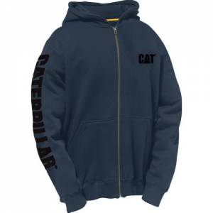 CAT Full Zip Hooded Sweatshirt - Men - Dark Marine
