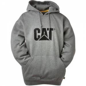 CAT Trademark Hooded Sweatshirt - Men - Athletic Heather Grey