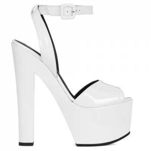"Giuseppe Zanotti Platform Heel Sandals ""White Tarifa"""