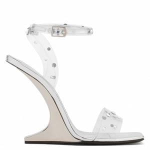 Giuseppe Zanotti Women Sandals PICARD SHINING Transparent Plexi Wedge