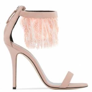 Giuseppe Zanotti BEAU Pink Feathers Sandals