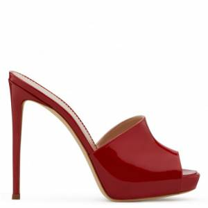"Giuseppe Zanotti Sandals ""Red Nettie"" Women's High-Heel Shoes"