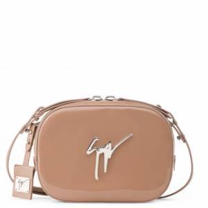 Giuseppe Zanotti Clutches - ODETTE - Pink Patent Leather Women's Shoulder Bag