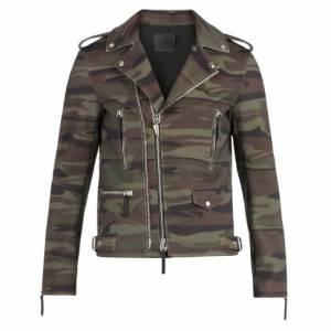 Giuseppe Zanotti Men KIAN Camouflage Motorcycle Jacket