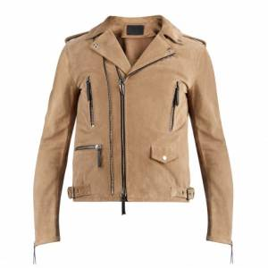 """Giuseppe Zanotti Men's Jacket """"Kian"""" Suede Biker"""