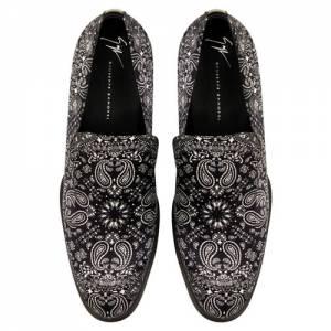 "Giuseppe Zanotti Men's Loafers ""Garrison Paisley Moccasins"""