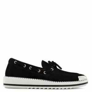 Giuseppe Zanotti Loafers ALFRED Black Suede Men's Shoes